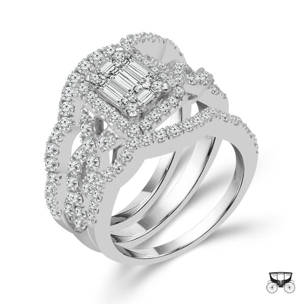 View Fairytale Diamond 3-pc Bridal Set