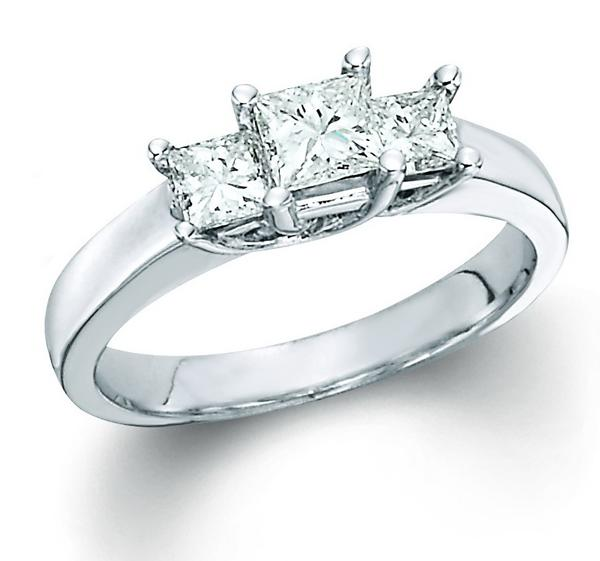 View Princess 3 Stone Ring